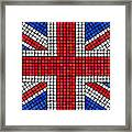 Union Jack Mosaic Framed Print by Jane Rix