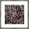 Untitled Pollock Inspired Framed Print