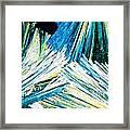 Urea Or Carbamide Crystals In Polarized Light Framed Print
