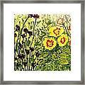 Walls Of Heavenly Flowers Framed Print