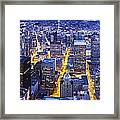Wide Seattle Cityscape Framed Print