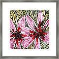 Mann Flowers Framed Print