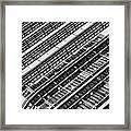 Canary Wharf London Abstract Framed Print