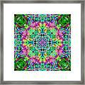 Rainbow Light Mandala Framed Print