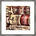 1900 Ledgers Framed Print by Nadine Lewis