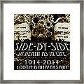 1914 - 2014 Side By Side - In Death As In Life Framed Print