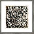 1923 100 Million Mark German Stamp Framed Print