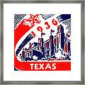 1936 Dallas Texas Centennial Poster Framed Print