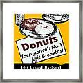 1940 Donut Poster Framed Print
