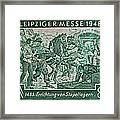 1948 Allied Occupation German Stamp Framed Print