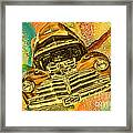 1948 Chev Gold Tie Dye Tilt Car Art Framed Print