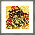 1948 Chevy Gold Acid Art Framed Print