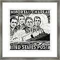 1948 Immortal Chaplains Stamp Framed Print