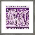 1953 American Bar Association Postage Stamp Framed Print