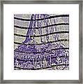 1956 Devils Tower National Monument Stamp Framed Print