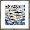 1957 David Thompson Canada Stamp Framed Print