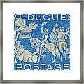 1958 Battle Of Fort Duquesne Stamp Framed Print