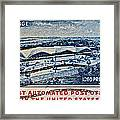 1960 First Automated Post Office Stamp Providence Rhode Island Framed Print