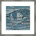 1962 Homestead Act Stamp Framed Print