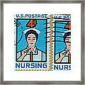 1962 Nursing Stamp Collage - Oakland Ca Postmark Framed Print