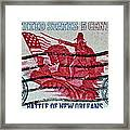 1965 Battle Of New Orleans Stamp Framed Print