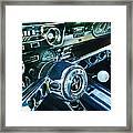 1965 Shelby Prototype Ford Mustang Steering Wheel Emblem 2 Framed Print