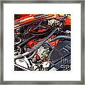 1969 Chevrolet Camaro Rs - Orange - 350 Engine - 7567 Framed Print