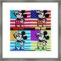 American Mickey Framed Print