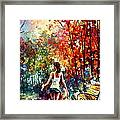 Barefooted Stroll Framed Print