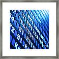 Blue Flight Board Framed Print