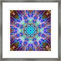 Blue Rainbow Star Mandala Framed Print