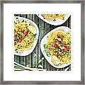 Chicken Noodles Framed Print