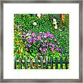 Close-up Of Flowers, Muren, Switzerland Framed Print