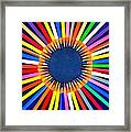 Colorful Pencils Framed Print
