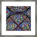 Colourful Stained Glass Window In Framed Print