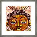 Congalese Face 2 Framed Print