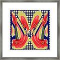 Dancing Tulip Red Exotic Flower Petal Based Wave Pattern  Created By Navinjoshi Reiki Healing Master Framed Print