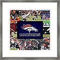Denver Broncos Framed Print by Joe Hamilton