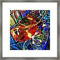Glass Abstract 691 Framed Print