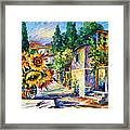 Greek Noon Framed Print