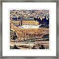 Jerusalem From Mount Olive Framed Print by Thomas R Fletcher