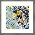 Pro Bike Racing Paris Framed Print