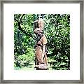 Lady At The Fountain Framed Print