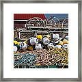 Lobster Fishing Framed Print by Elena Elisseeva