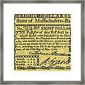 Massachusetts Banknote Framed Print