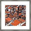 Medieval Town Rooftops Framed Print