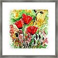 Poppy Lawn Framed Print