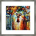 Rain Princess - Palette Knife Landscape Oil Painting On Canvas By Leonid Afremov Framed Print