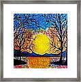 Raining Sunset Framed Print