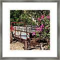 Ranch Wagon Cross Over Framed Print